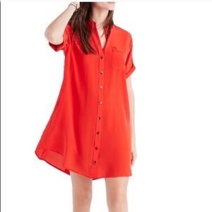 Madewell Red button-down dress